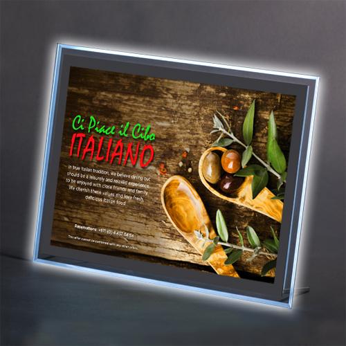 Backlit Table Top Displays For Restaurants Bars Distinct Displays - Restaurant table displays